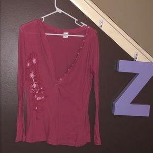 Xl pink flower shirt